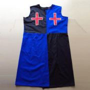Medieval Knights Blue & Black Surcoat / Tabard